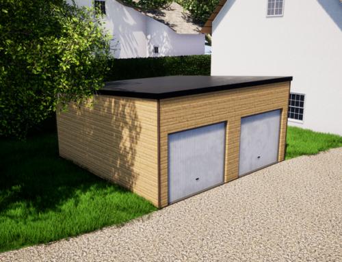 Garage en ossature bois – 36m² – Toit mono pente – Agen (47)