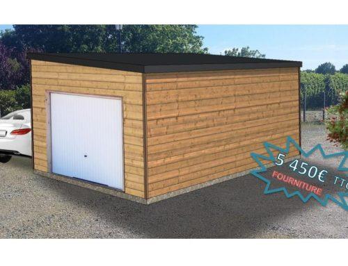 Garage en ossature bois 21m² – Toit mono-pente – Mont de Marsan (40)